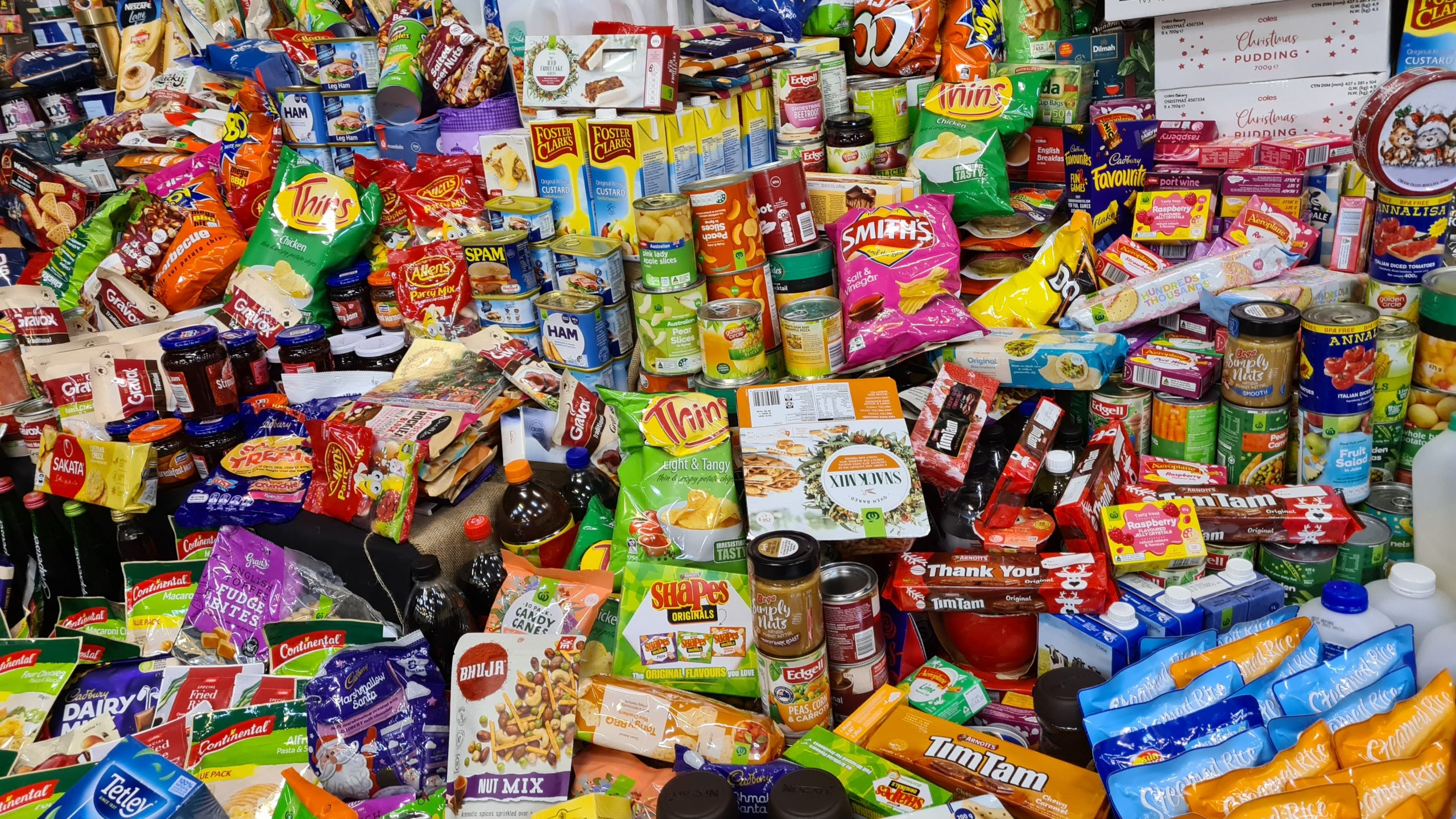 A selection of snacks
